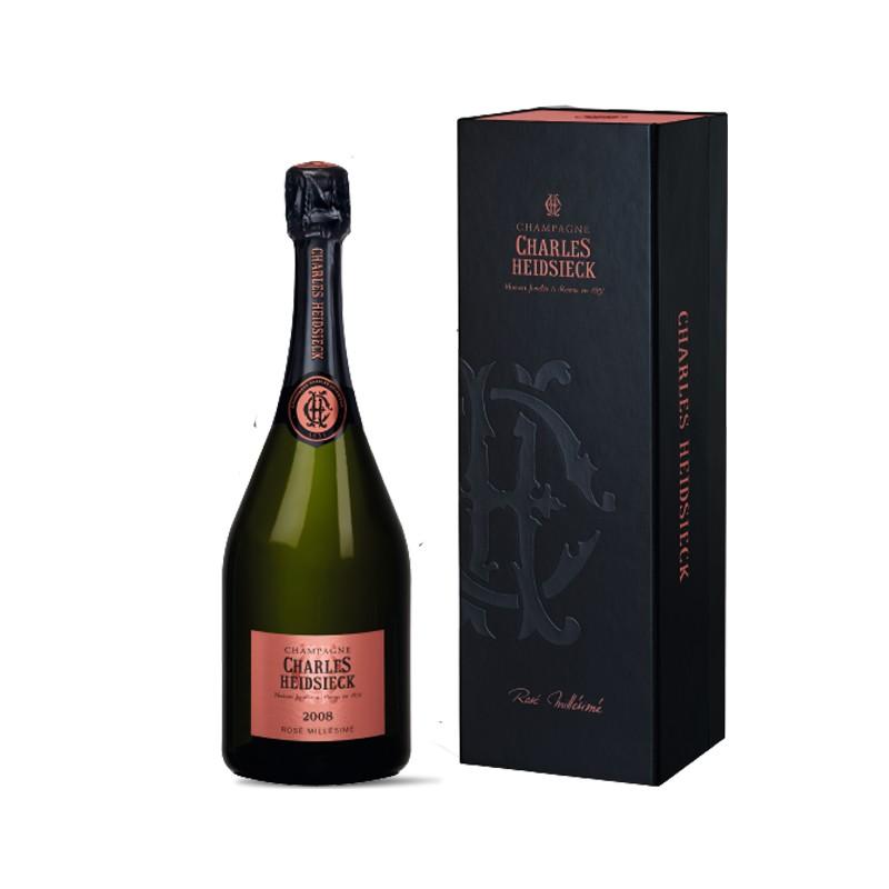 Champagne Charles Heidsieck Rosé Millésimé Gift Box 2008